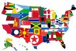 Карта национальностей США