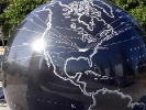 Tennessee on the globe at the Bicentennial Mall in Nashville.
