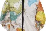 Куртка с картой мира