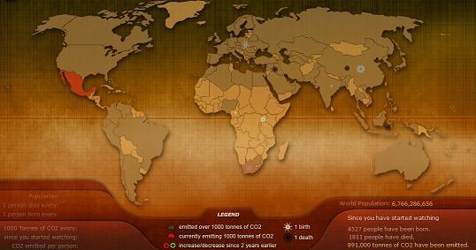 Карта – «Дыхание Земли»