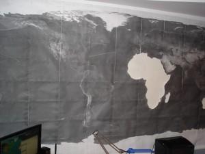Карта на стене -1
