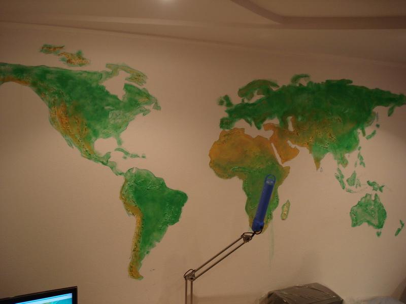 Карта на стене своими руками
