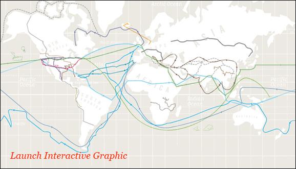Карта великих географических путешествий