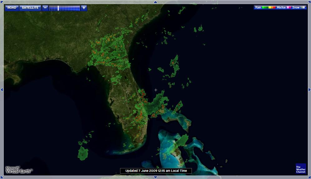 Радар погоды на карте