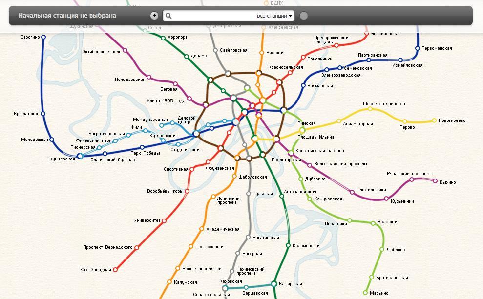 Схема метро москвы со станциями   интерактивная карта.