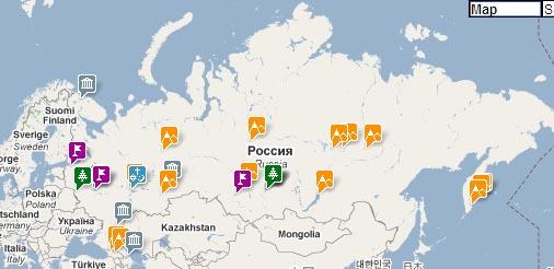 """Карта """"Чудеса России"""""""