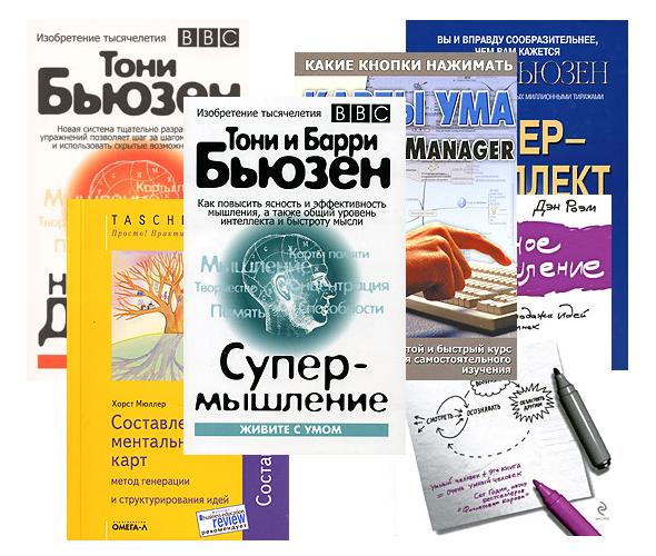 Подборка книг по картам ума