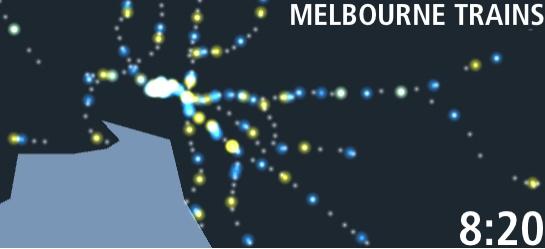 Визуализированная карта движения поездов
