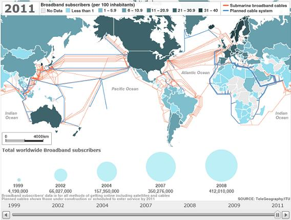 Карта широкополосного интернета