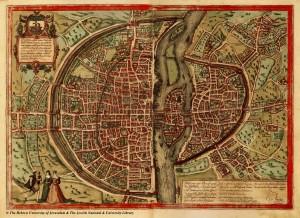 Историческая карта Парижа 1569 года