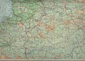 Физическая карта Беларуси
