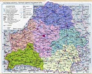 Политическая карта Беларуси