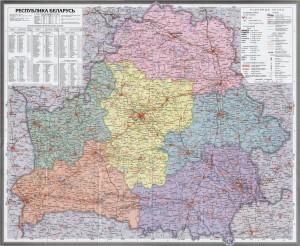 Автомобильная карта Беларуси