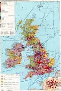 Экономическая карта Англии