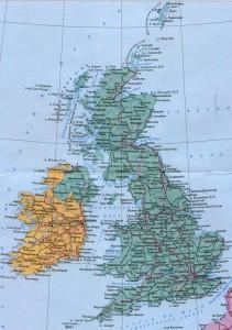Карта портов и основных путей Англии