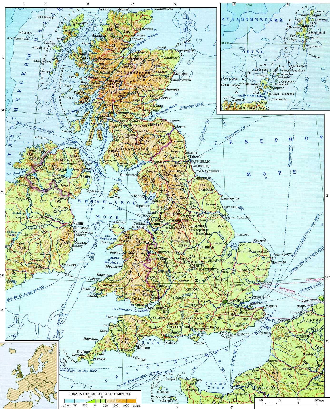 Vse Karty Velikobritanii Infokart