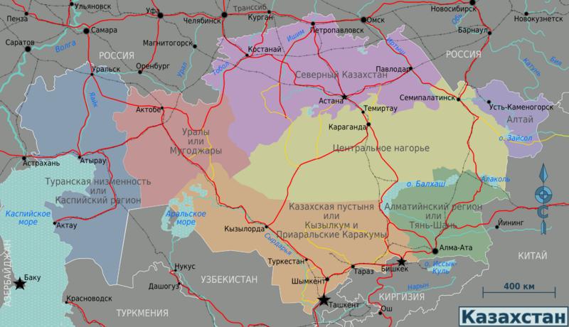 Карта Казахстана с городами | Инфокарт – все карты сети