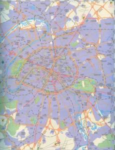 Карта Парижа для автотуриста