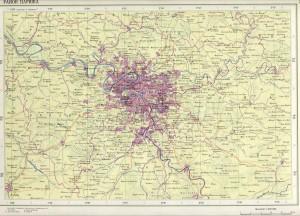 Карта района Парижа