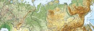 Карта России в формате EPS.  Масштаб 1:8 000 000