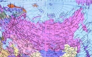 Карта России с отображением основных транспортных путей