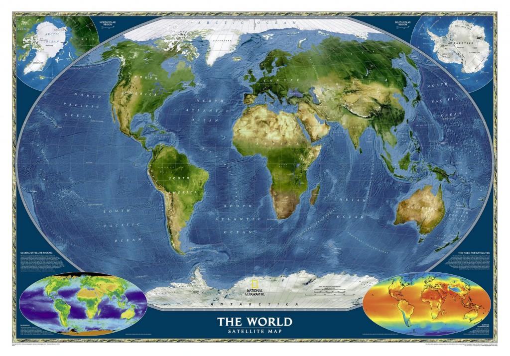Спутниковая карта Земли