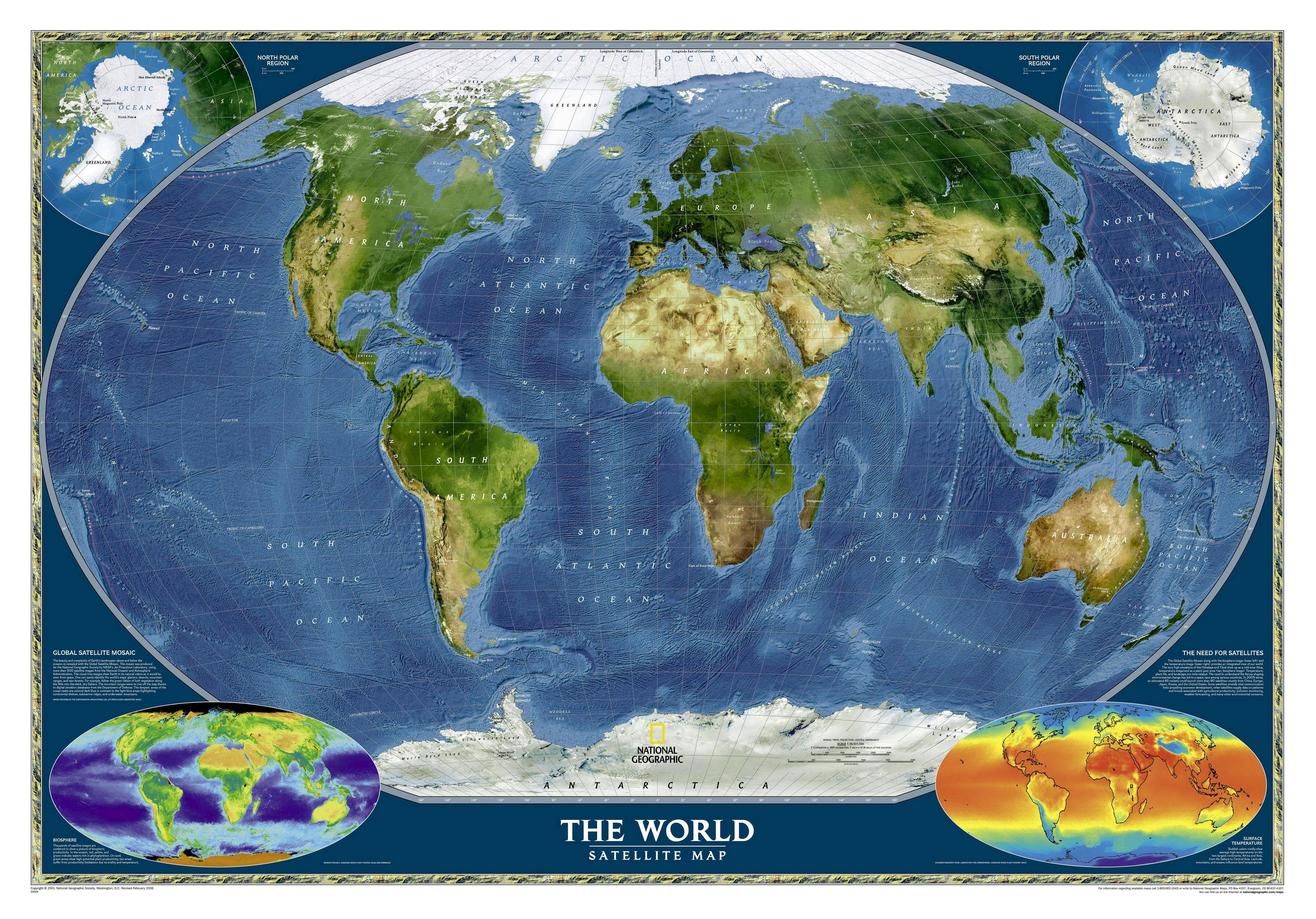 Спутниковая карта Земли — Инфокарт