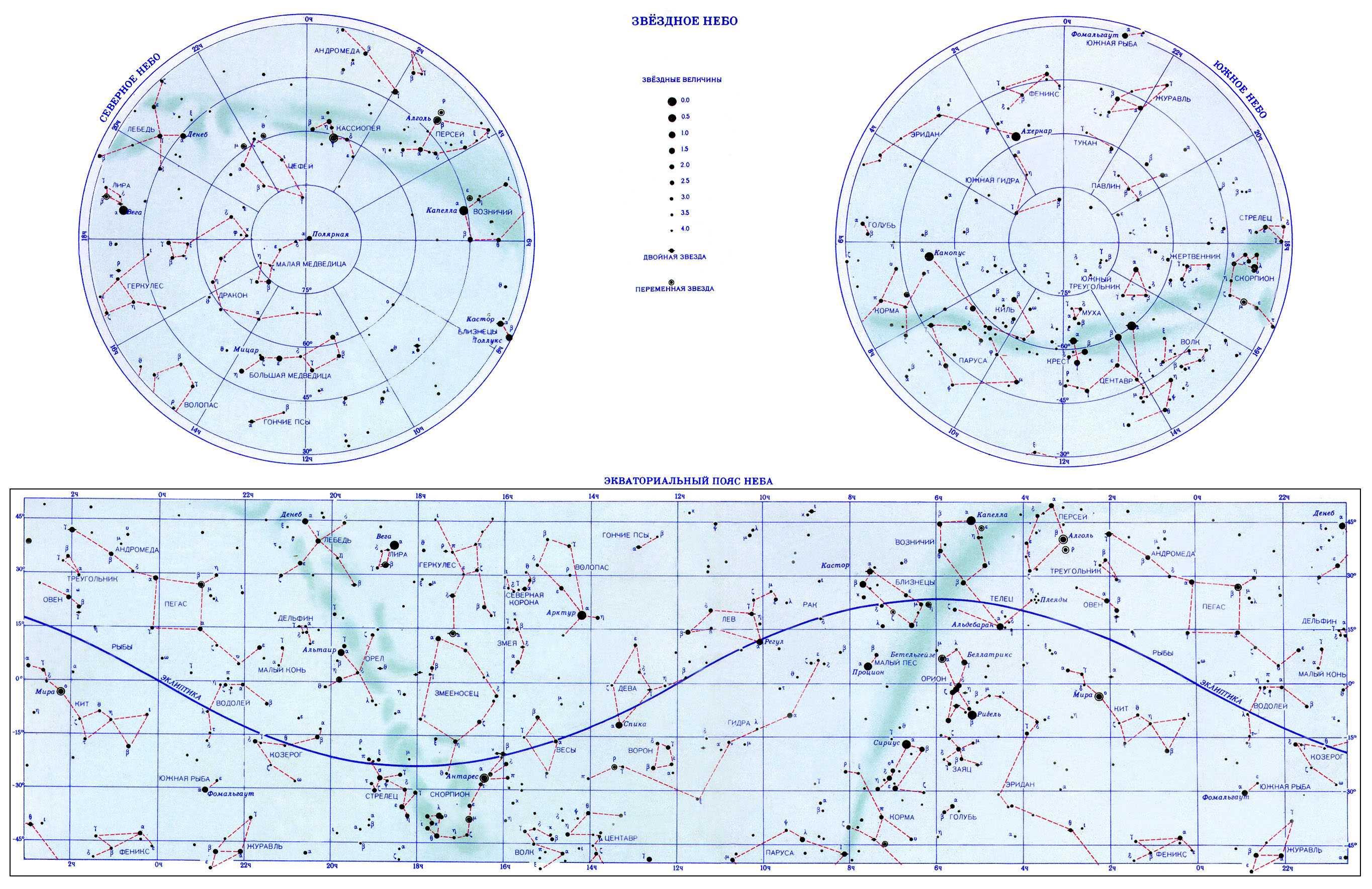 Звездная карта и фото земли со