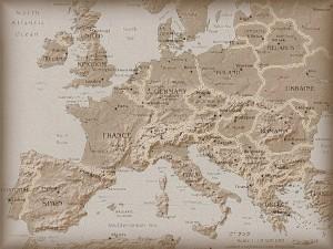 Рельефная карта Европы