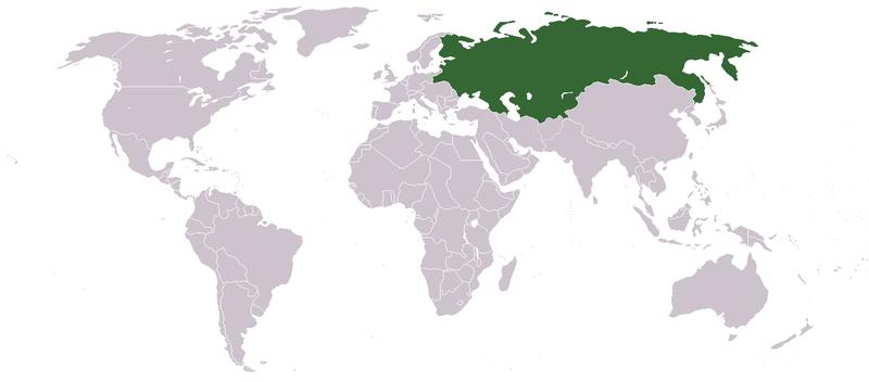 Российская империя на карте мира