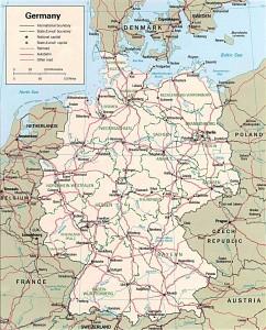 Дорожная карта Германии