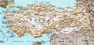 Рельефная карта Турции