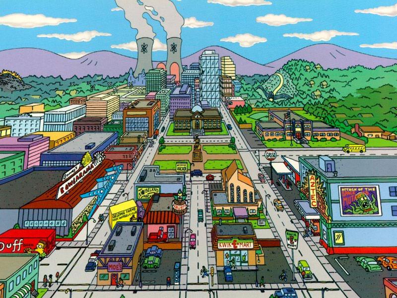 Город симпсоны картинки