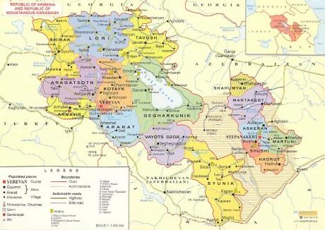 Административная карта Армении
