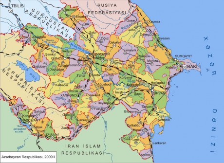 Административная карта Азербайджана
