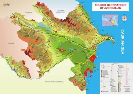 Туристическая карта Азербайджана