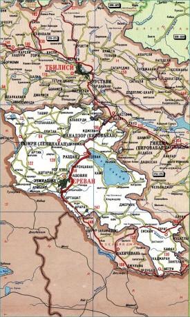 Дорожная карта Армении