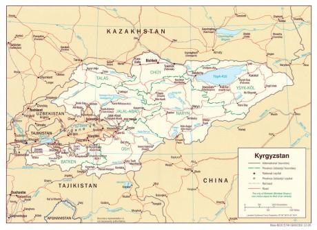 Дорожная карта Киргизии