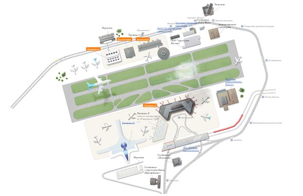 Карта схема аэропорта