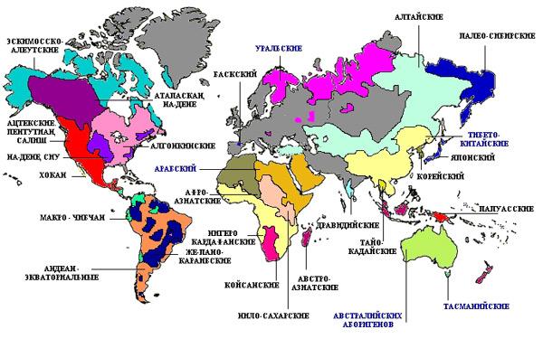 Карта языков мира 2