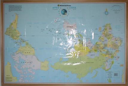 Перевернутая географическая карта