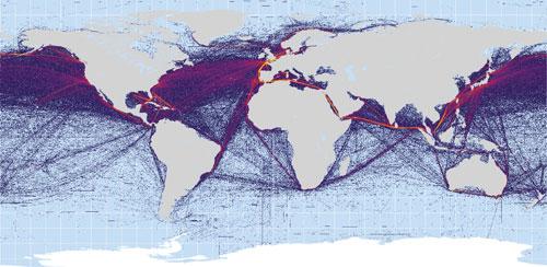 Схема морских путей