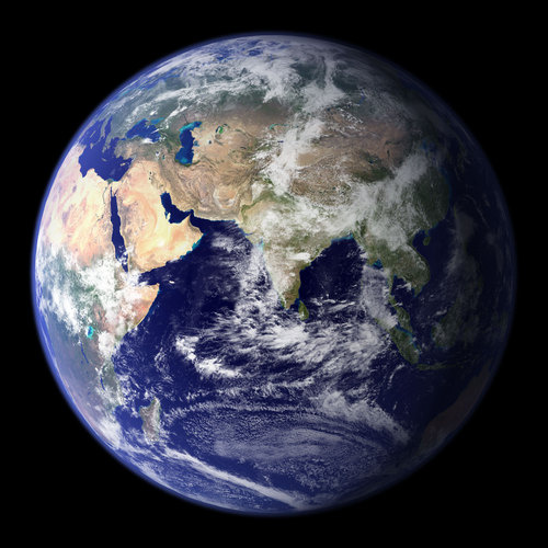 Вид Земли со спутника