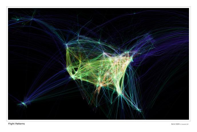 Карта воздушного трафика