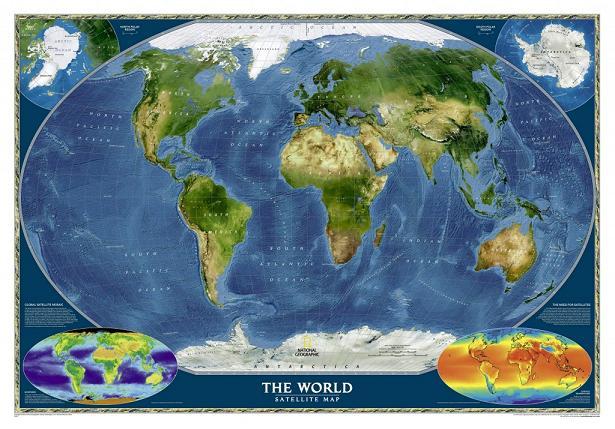 Карта мира со спутника