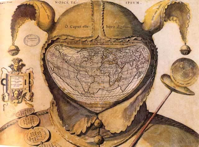 Необычное оформление географической карты 17 в.