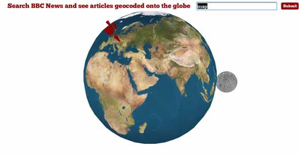 Глобус новостей от BBC