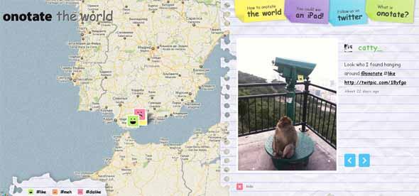 Комментарии на карте мира
