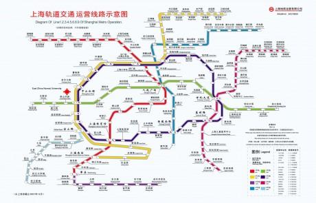 Карта метро Шанхая