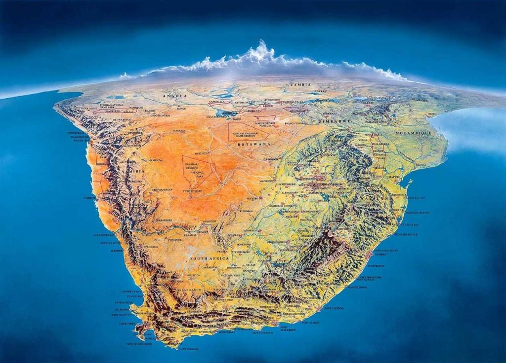 Панорамная карта Южной Африки